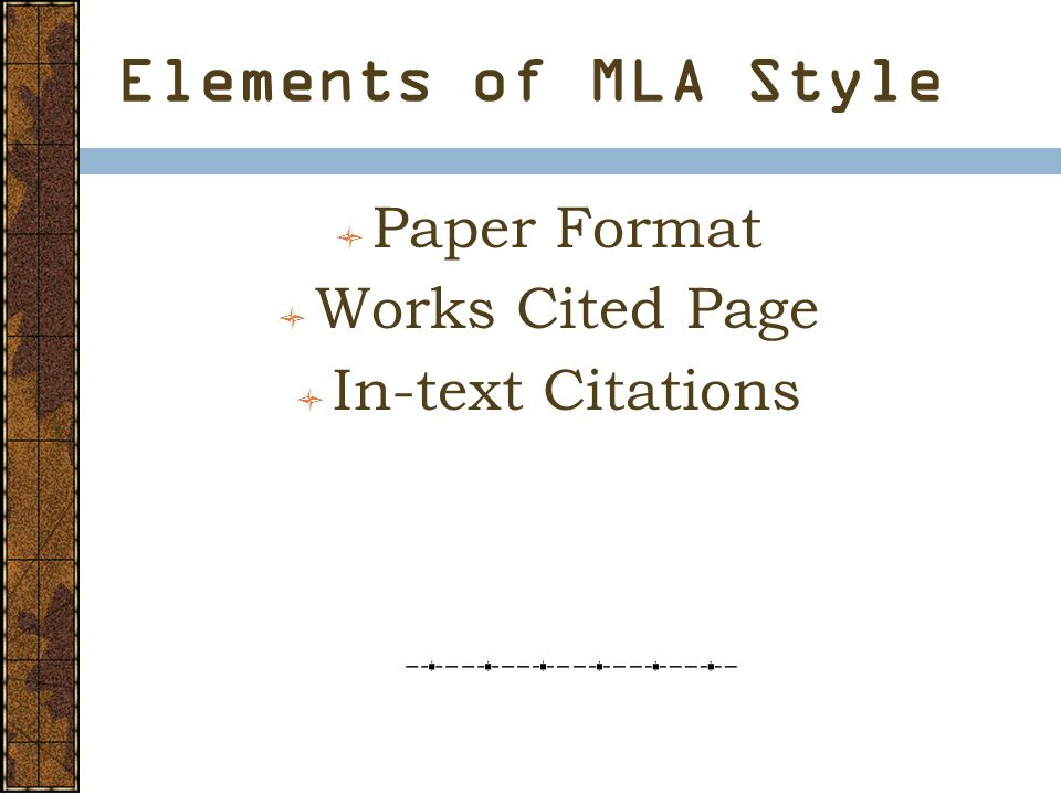 modern language association mla research style ppt download