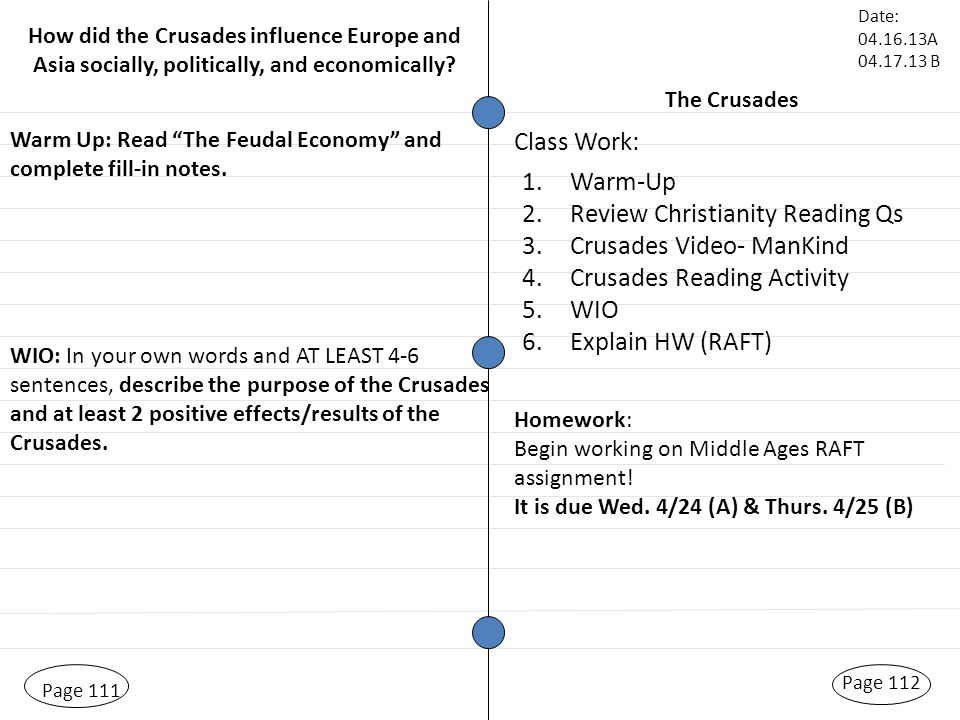 Printable Worksheets feudalism worksheets : Christianity and the Byzantine Empire Page 105 Warm Up: Middle ...
