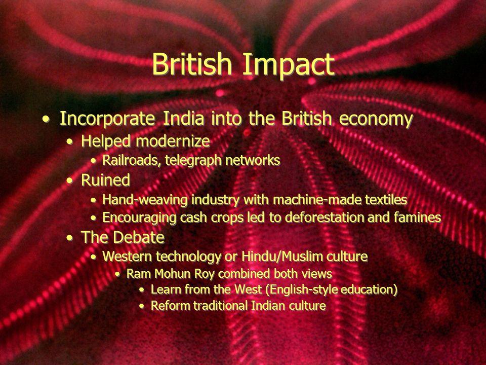 british impact on india