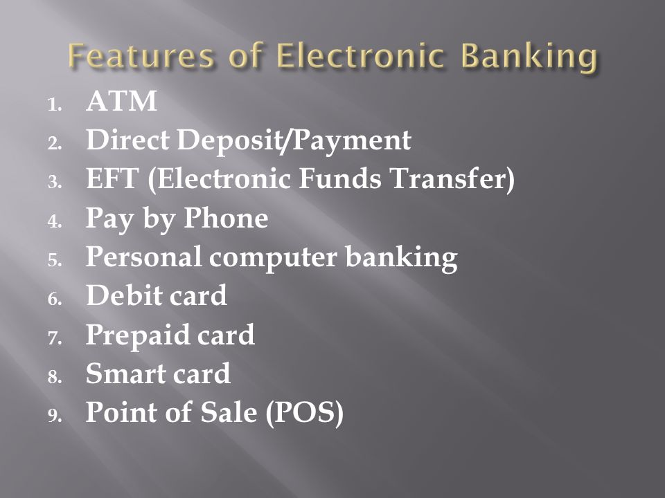 bank services electronic banking checking accounts and check