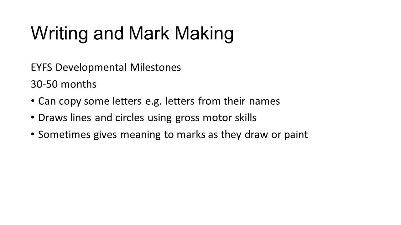 early writing development