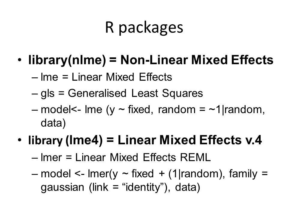 Mixed Effects Models Rebecca Atkins and Rachel Smith March