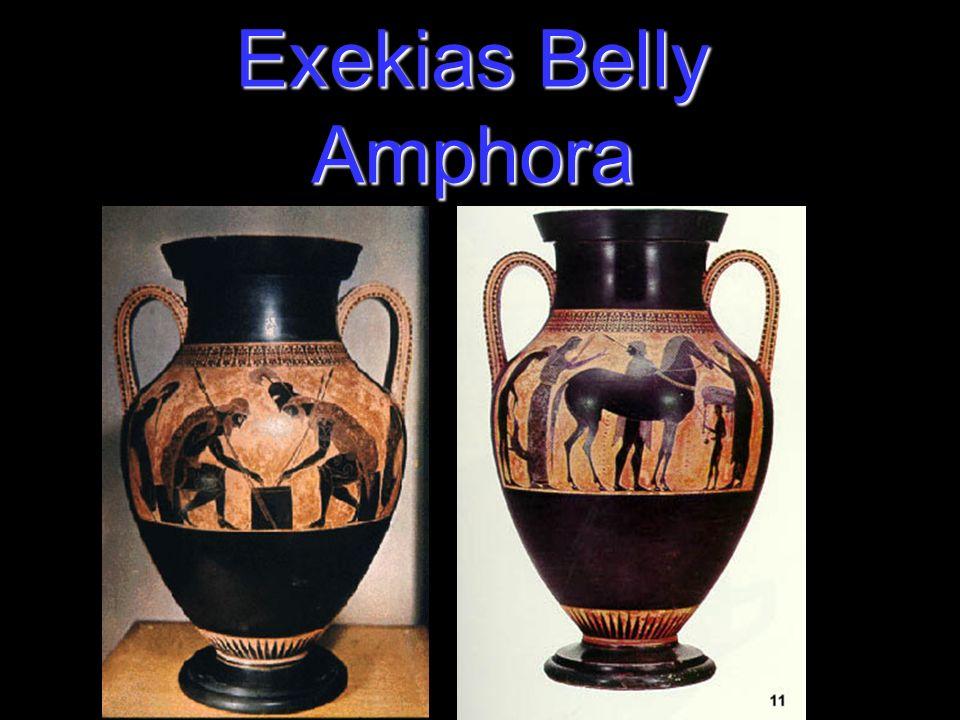Exekias Belly Amphora Exekias Ancient Greek Vase Painter And