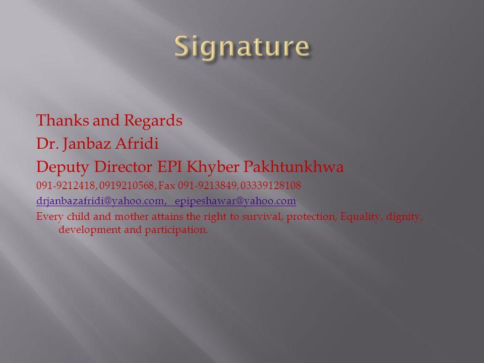 Dr, Janbaz Afridi Deputy Director EPI Khyber Pakhtunkhwa