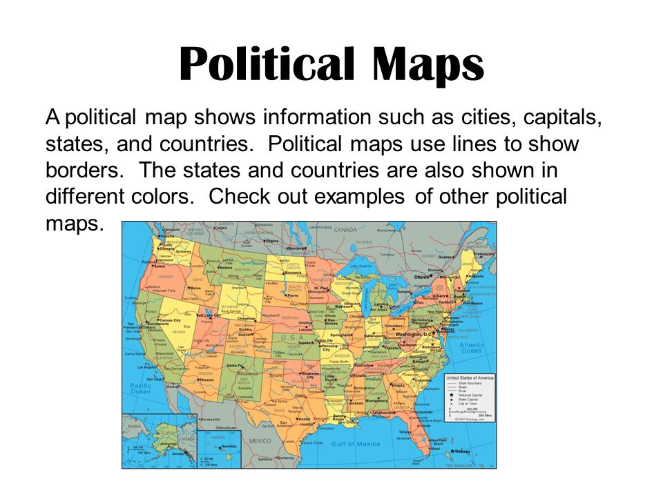 Map Skills What Is A Map A Map Is A Drawing Or Picture That Shows