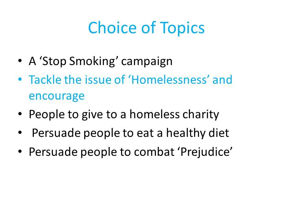 homelessness topics