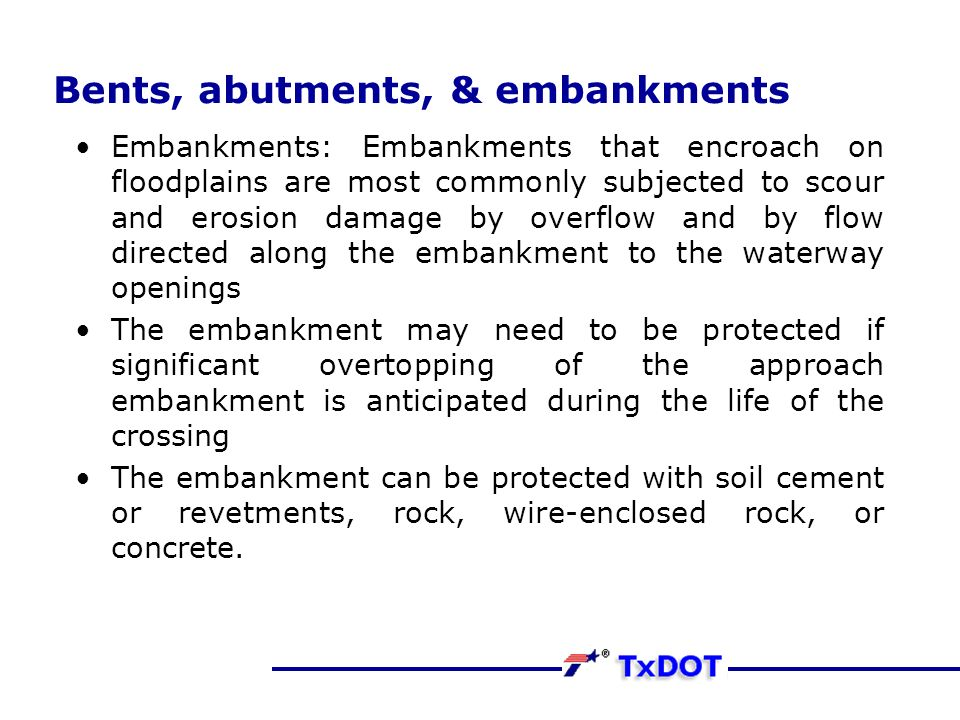 Basic Hydraulics Bridges Definition Terminology Abutments Flow