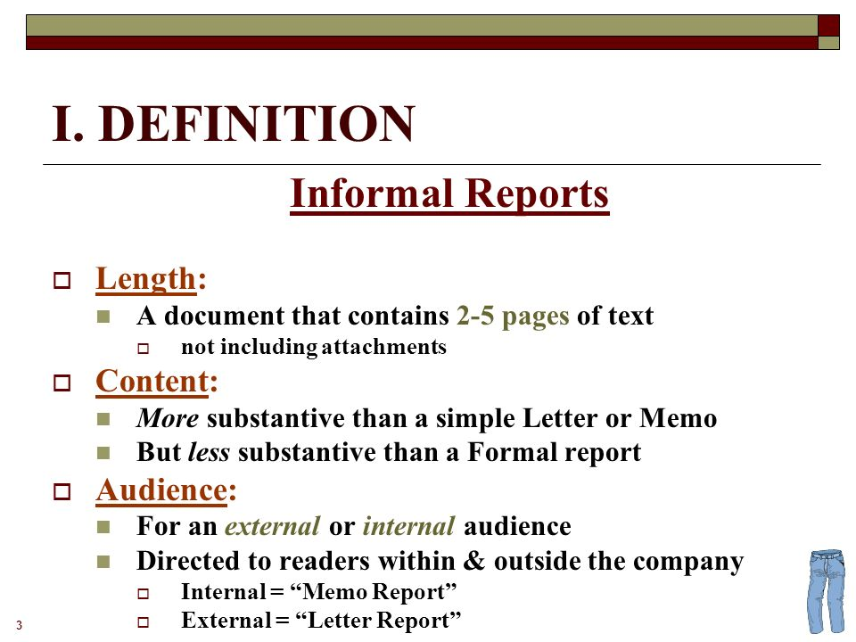 Informal reports 2 definition and examples 3 i definition informal 3 3 maxwellsz