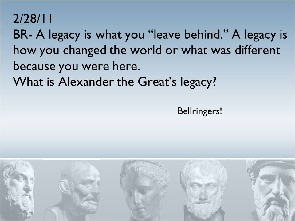 what legacy did alexander the great leave behind