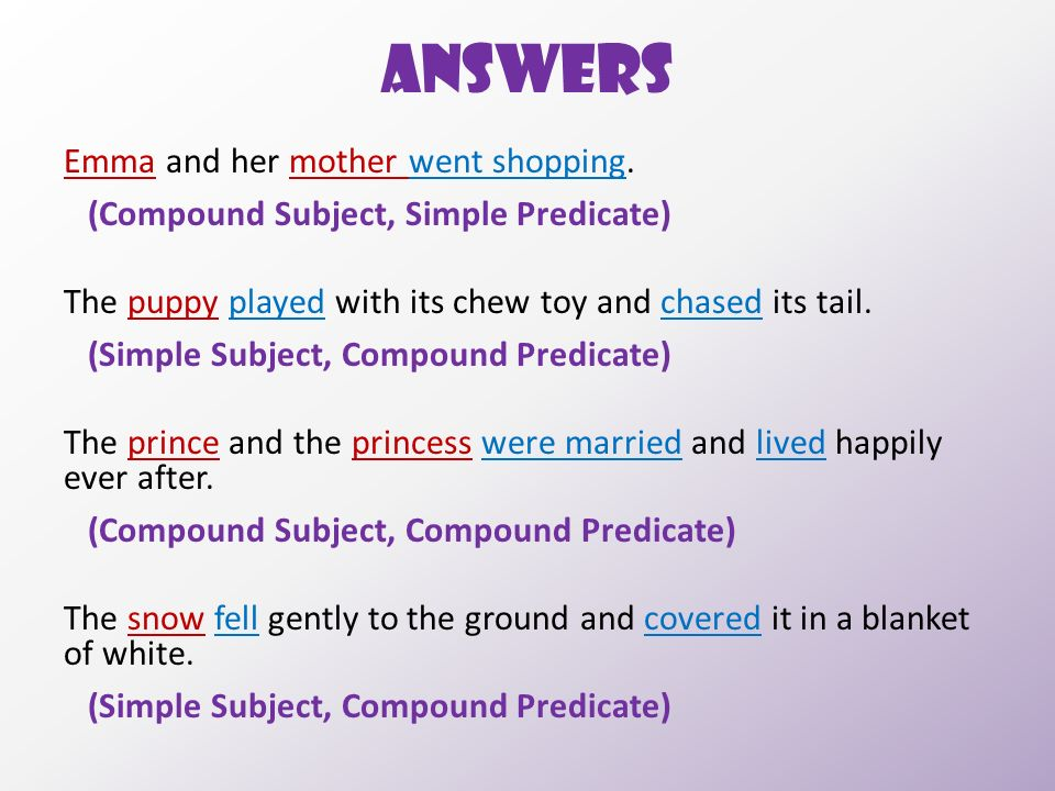 Compound predicate: definition & examples video & lesson.