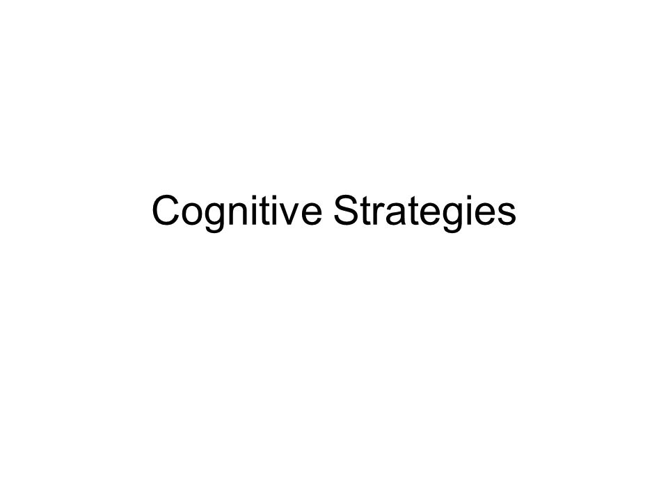 Cognitive Strategies Strategy Instruction Direct Explicit