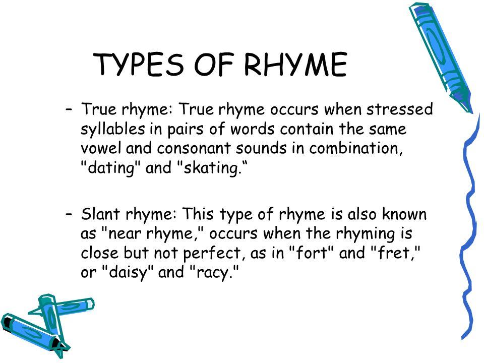 Dating rhyming