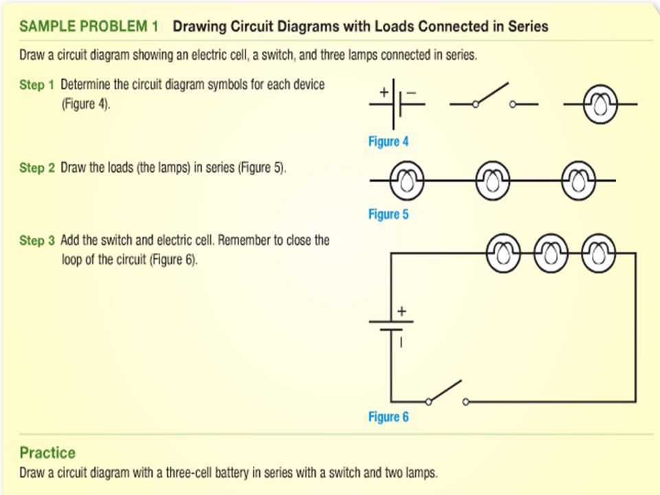 P A Way Of Drawing An Electric Circuit Using Standard Symbols