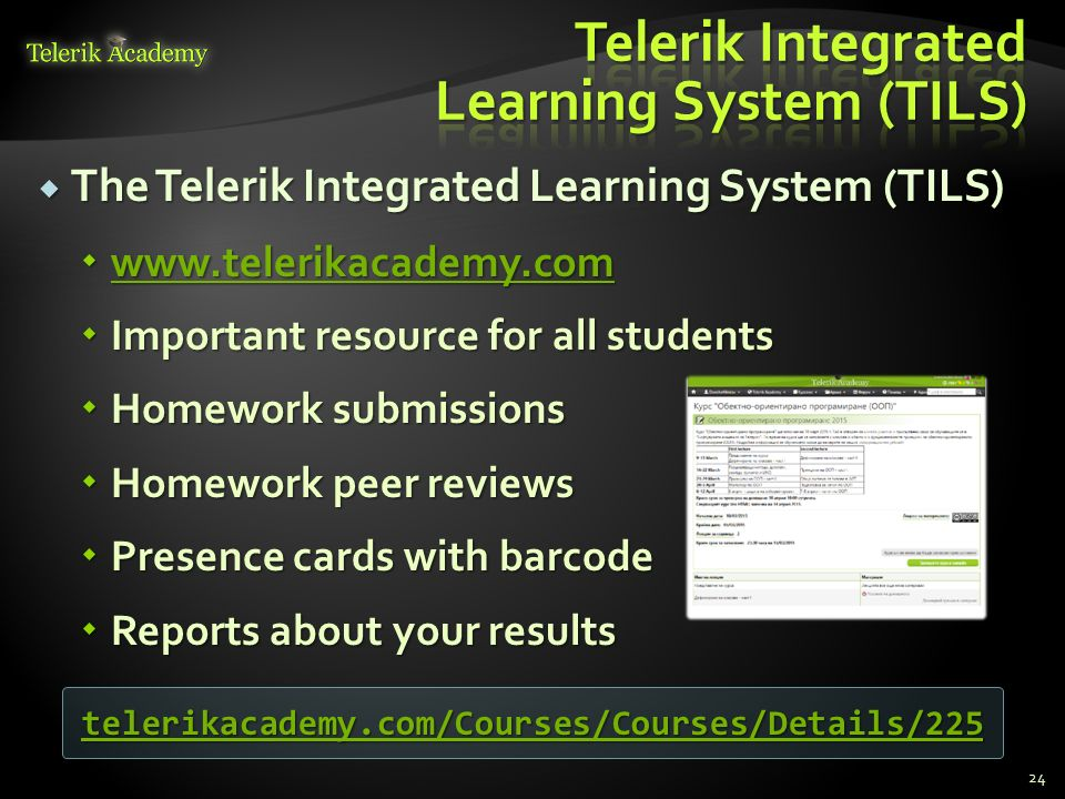 telerik html homework
