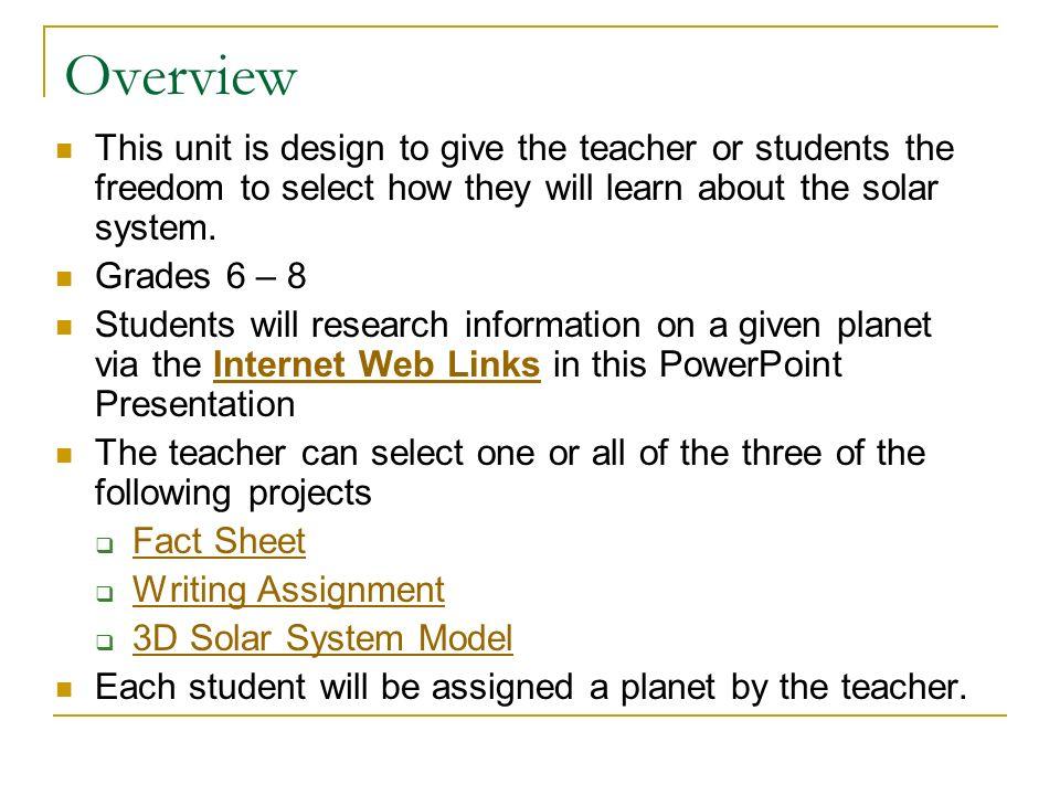WebQuest Presentation Our Solar System Sheldon Cox Jamie