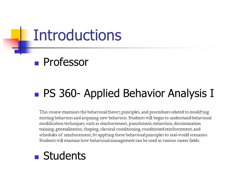 use of applied behavior analysis to support Over the last few decades, applied behavior analysis, or aba, has grown into a broad group of approaches and techniques designed to help children with autism principles of behavioral therapy - positive reinforcement of desired behaviors — are used, usually intensively, to help autistic kids.