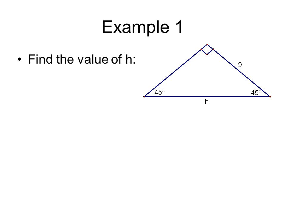 Chapter 8 Right Triangles Trigonometry 8 2 Special Right