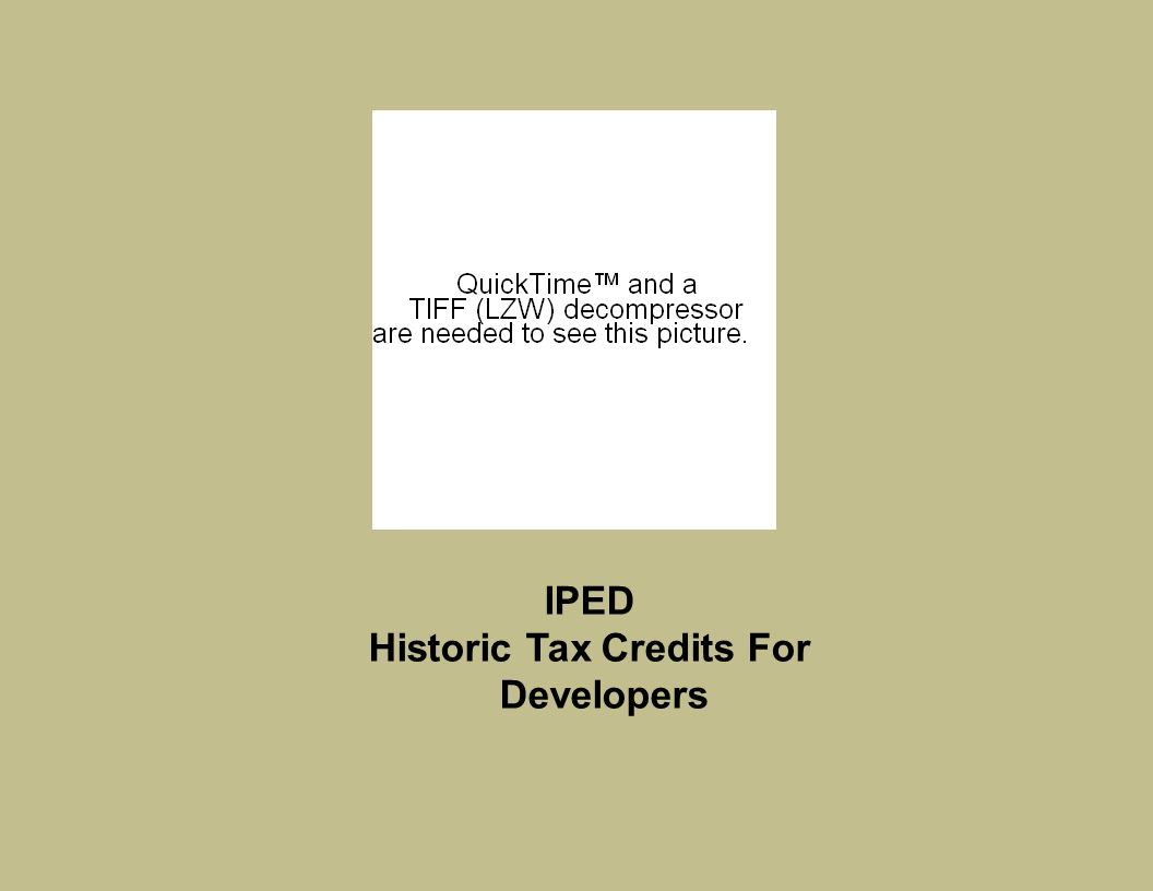 IPED Historic Tax Credits For Developers  Artspace Was