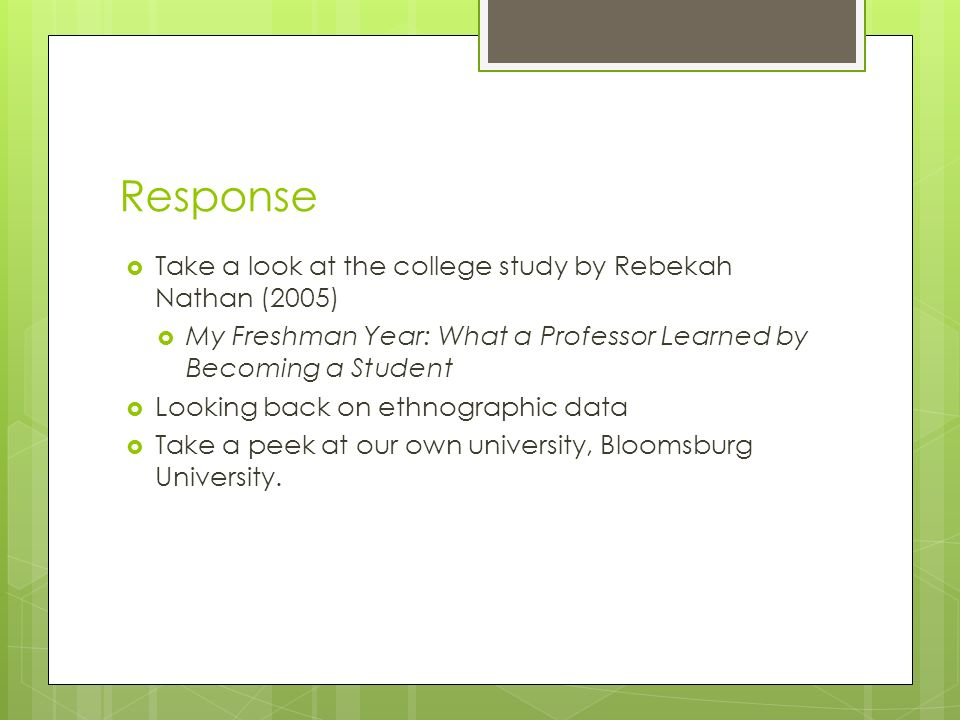 my freshman year rebekah nathan