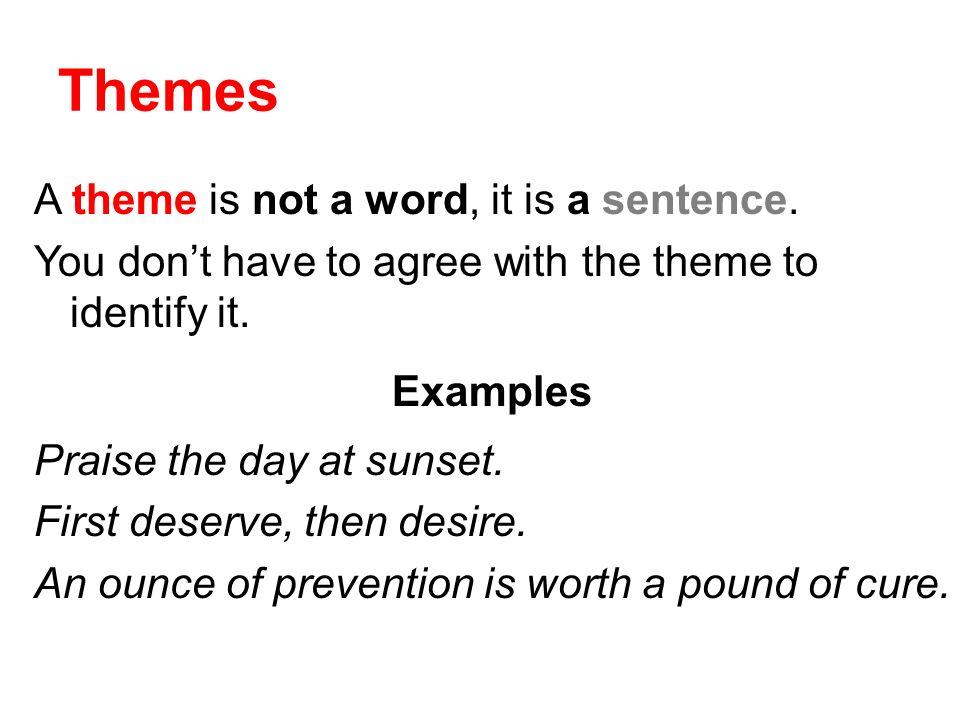 theme sentence examples
