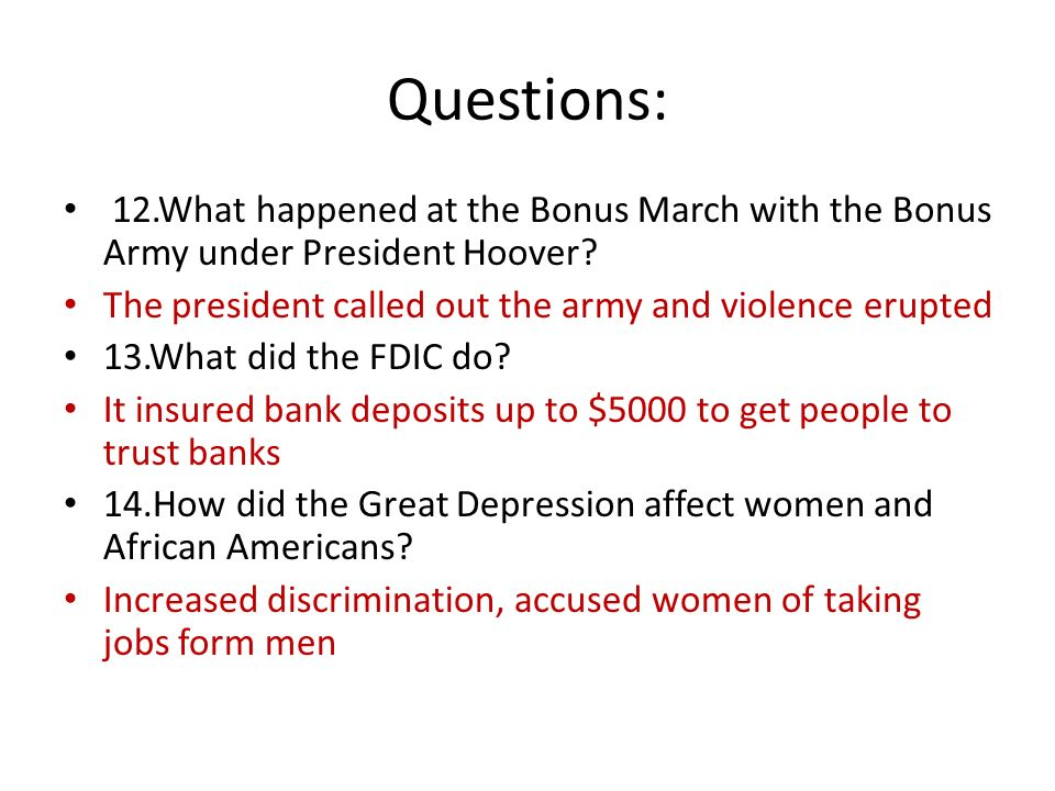 trans u s final review questions 1 what date did the stockwhat happened at the bonus march with the bonus army under president