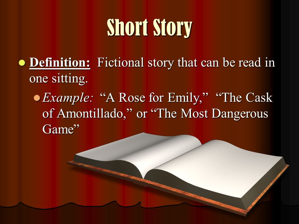 short story definition and examples