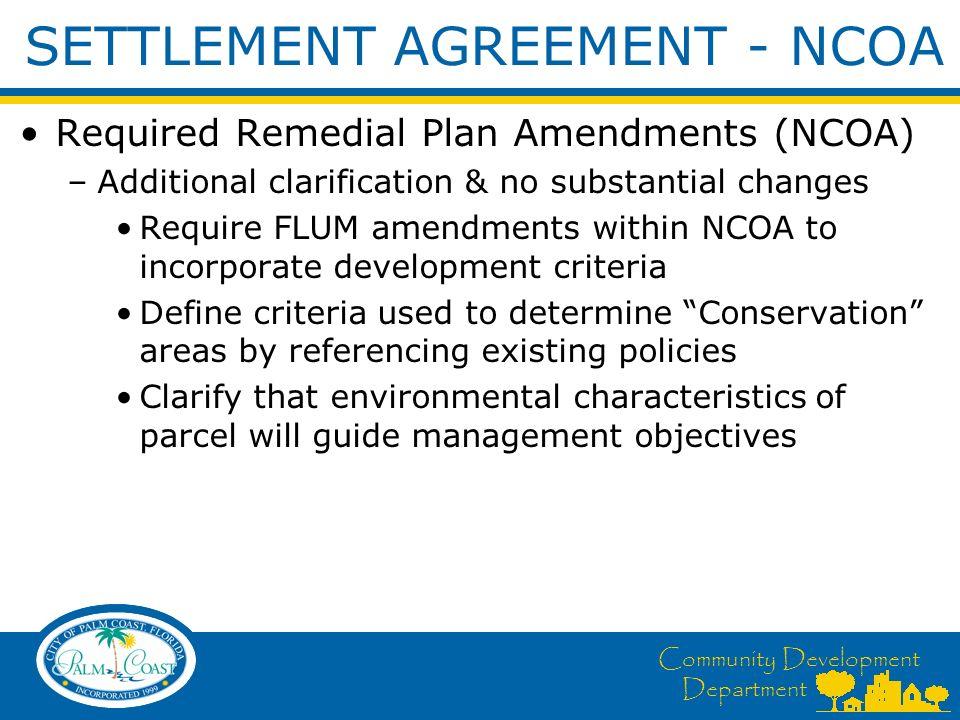 Community Development Department Comprehensive Plan Amendment