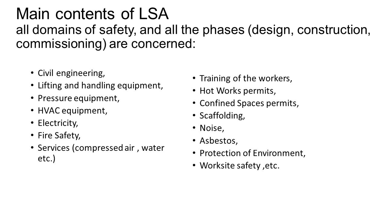 Hse Lsa Hse Procedure Foresees A Launch Safety Agreement For All New