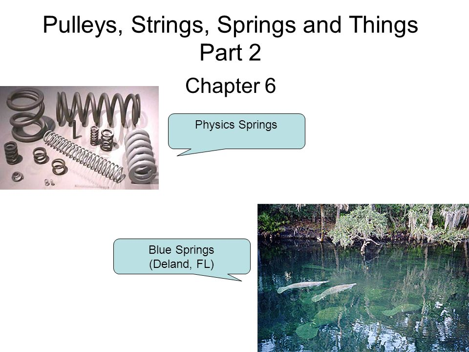 pulleys strings springs and things part 2 chapter 6 physics rh slideplayer com