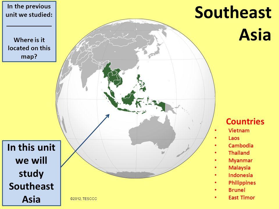 Southeast Asia Countries Vietnam Laos Cambodia Thailand Myanmar