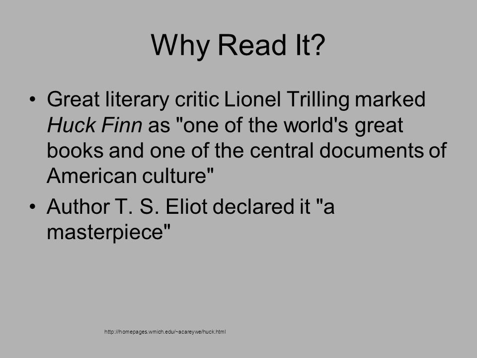 lionel trilling huck finn essay