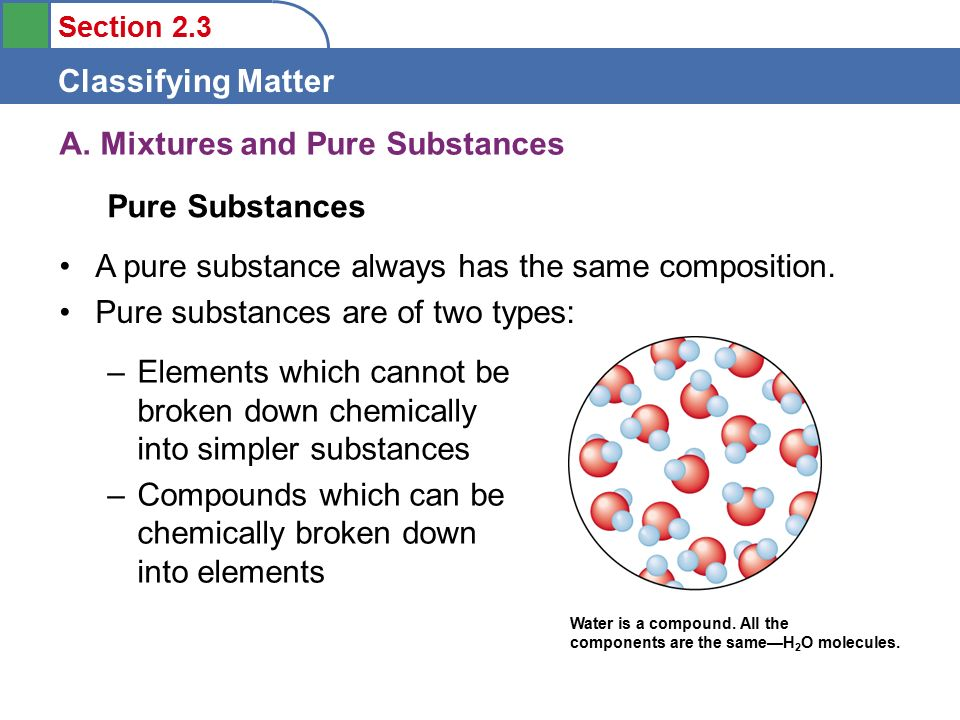 Section 2.3 Classifying Matter A.