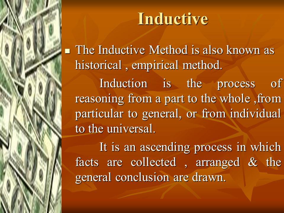 inductive method in economics