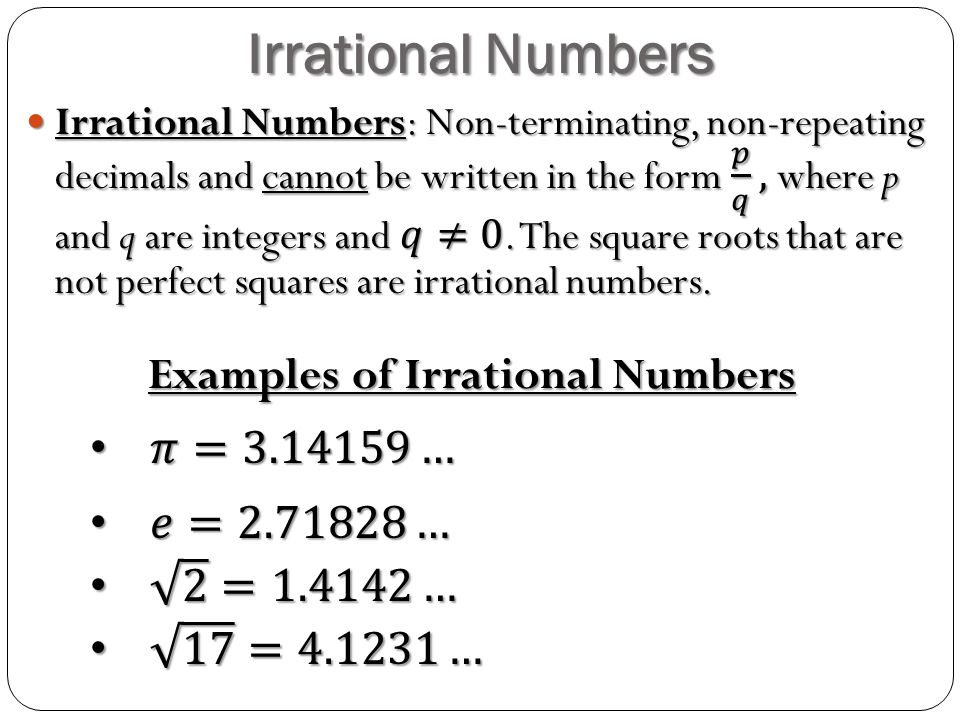 integrated mathematics real numbers. rational numbers examples of