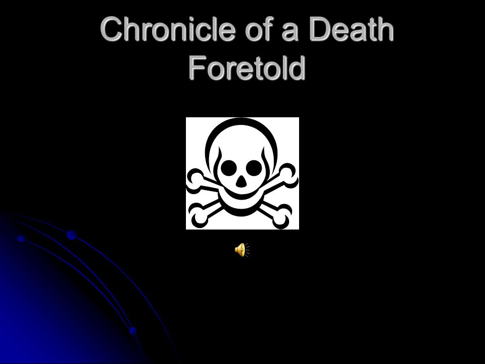 chronicle of a death foretold themes