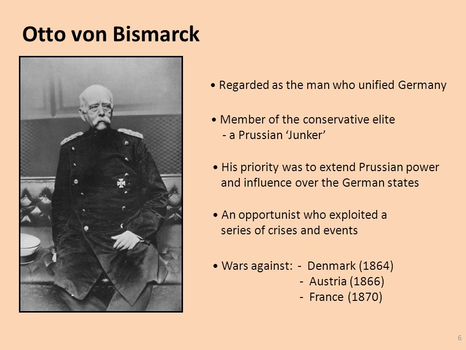 how did bismarck unify germany