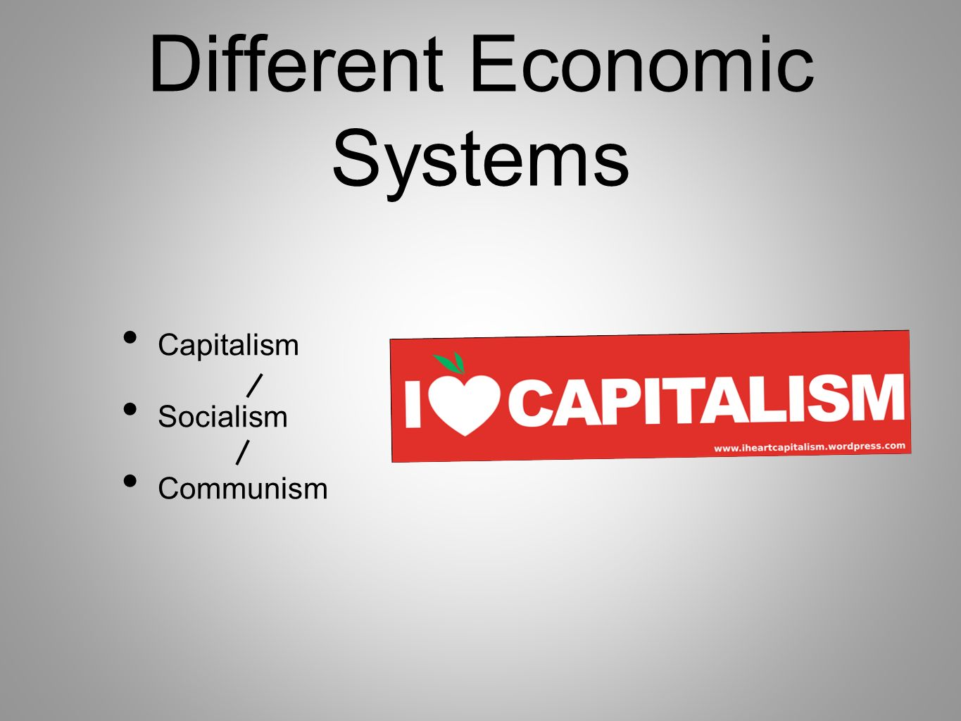 chapter 3 discusses three 3 types of economic systems capitalism planned economies socialism and com Mixed economies share characteristics with all three economic systems—market, socialist, and traditional even so, it is sometimes difficult to describe them as uniquely belonging to one type of economic system or another.