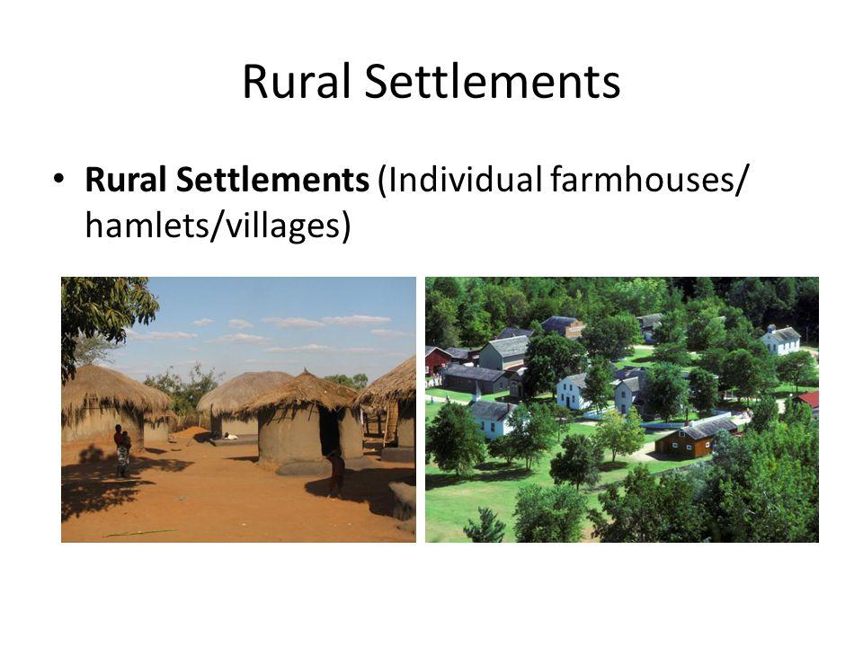 rural settlement and urban settlement