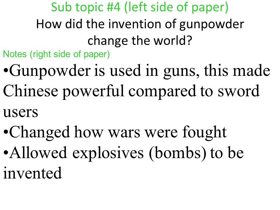how has gunpowder changed the world