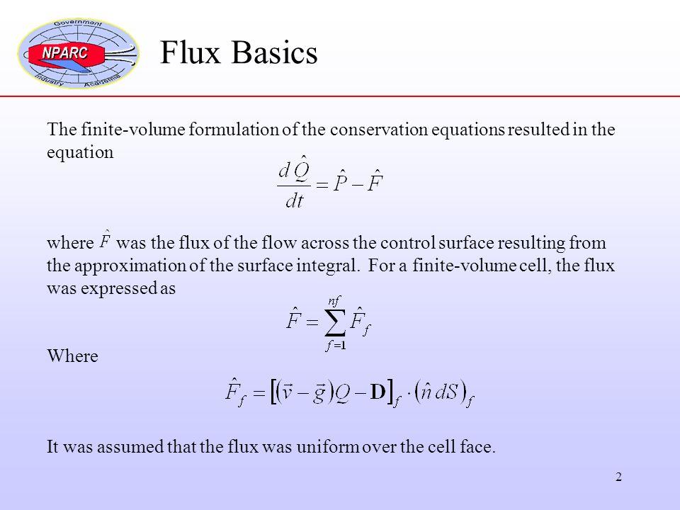 1 Flux Numerical Methods  2 Flux Basics The finite-volume
