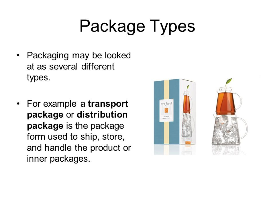 different types of packages