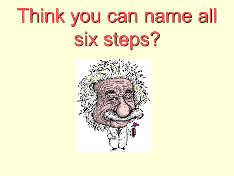 Think you can name all six steps