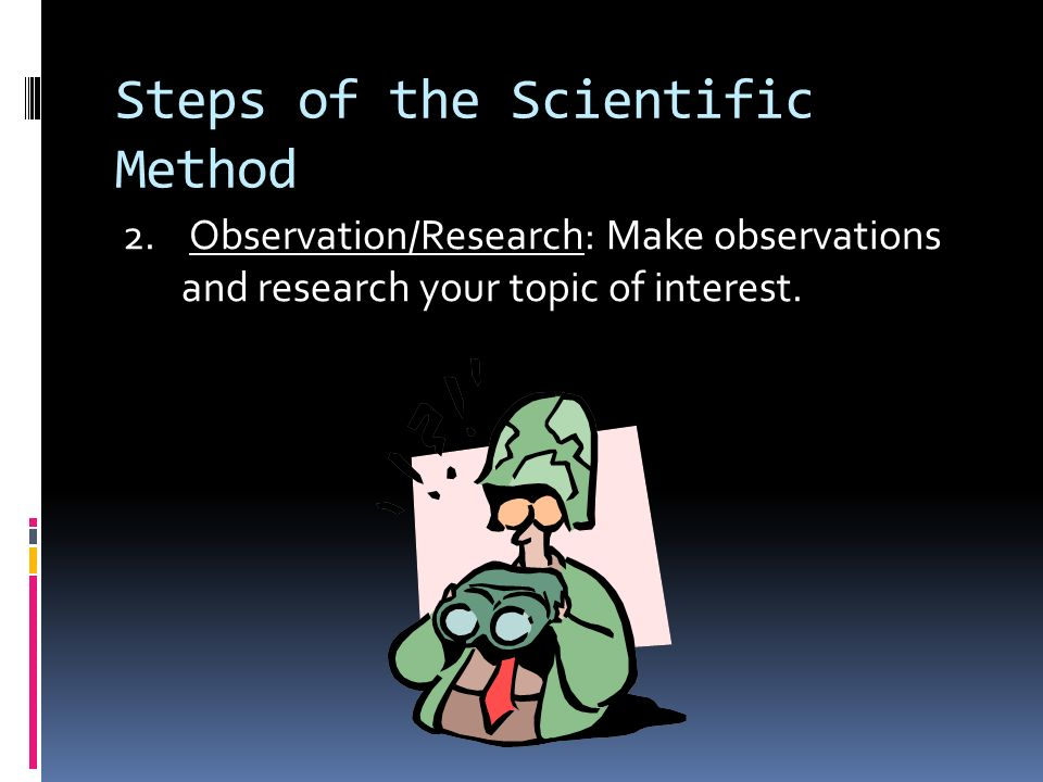 Steps of the Scientific Method 1.