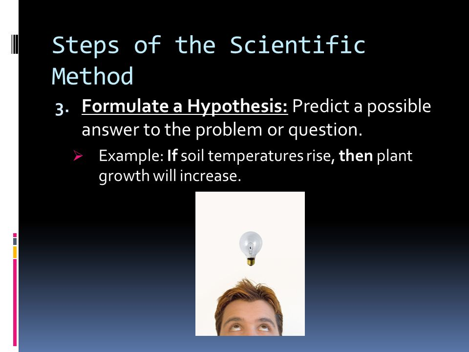 Steps of the Scientific Method 2.
