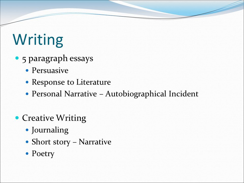 Writing  Paragraph Essays Persuasive Response To Literature   Writing  Paragraph Essays Persuasive Response To Literature Personal  Narrative  Autobiographical Incident Creative Writing Journaling Short  Story  Legitimate Custom Writing Services also Personal Essay Examples For High School  I Need Help With Business Plan