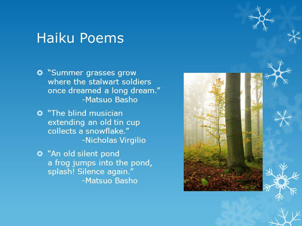 matsuo basho haiku poems
