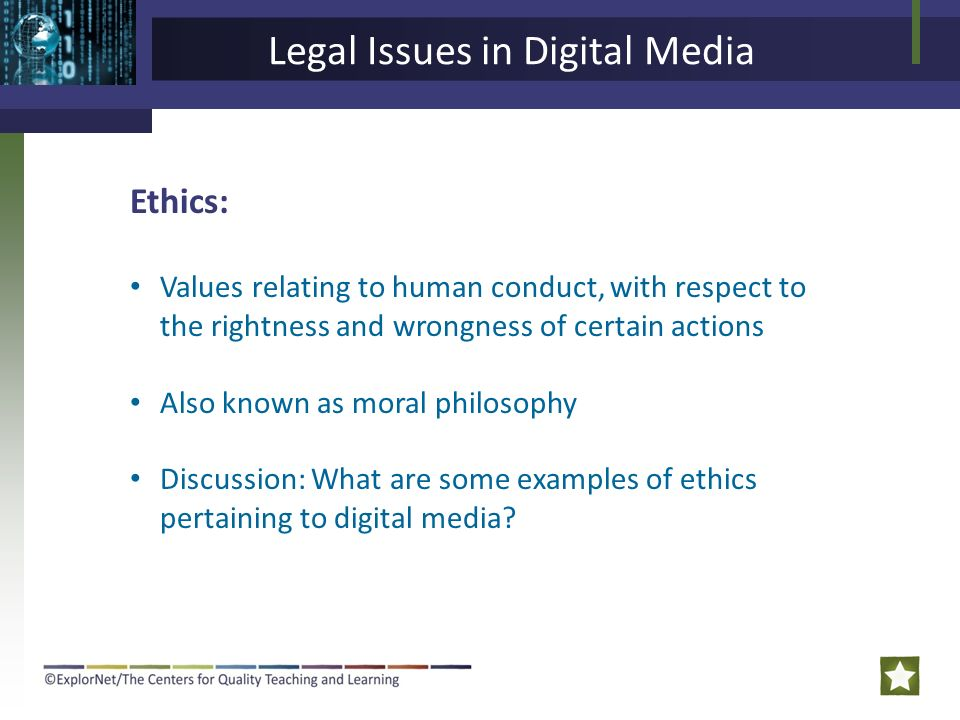 ethics in digital media essay Ethics in digital media consumption digital media has most definitely become a successful way of doing businesses worldwide the rampant migration and use of digital media is triggered by reasons such as lowered costs, instant customization, widened reach, and most prominently it enables anyone.