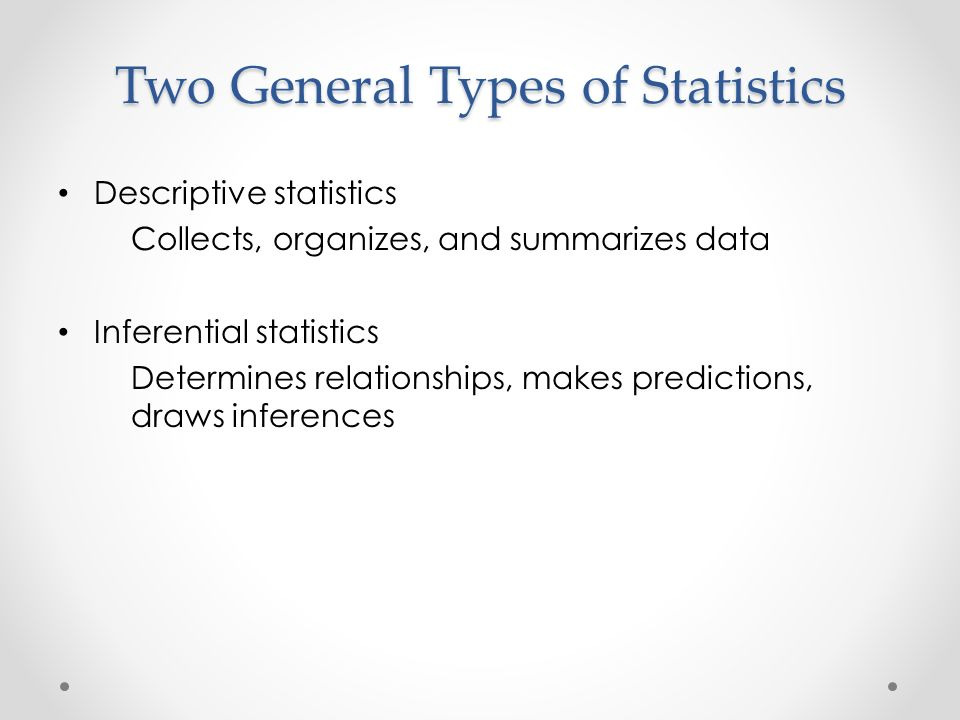 the main purpose of descriptive statistics is to The main purpose of descriptive statistics is to: correct summarize data in a useful and informative manner a population is a collection of all individuals,.