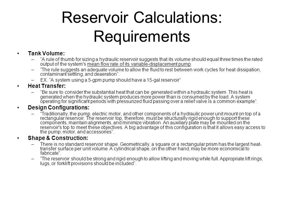 Hydrostatic Transmission Reservoir Internal Reservoir Defining Body