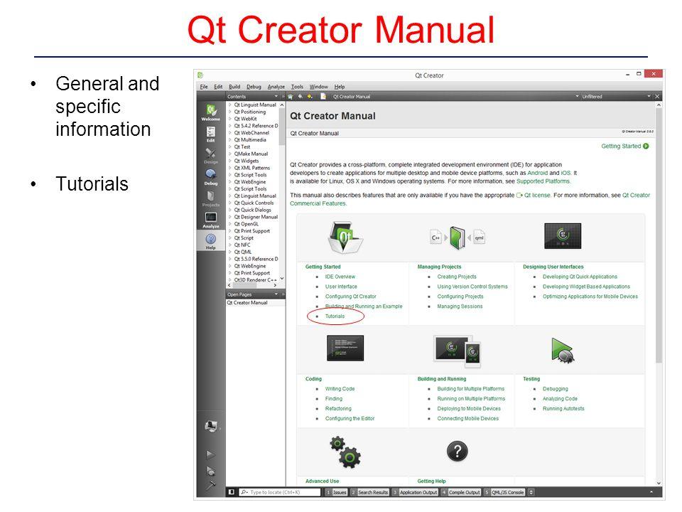 Creating a Qt Widget Based Application From Qt Creator Manual  - ppt
